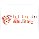 Red Dog Art Studio and Design Logo